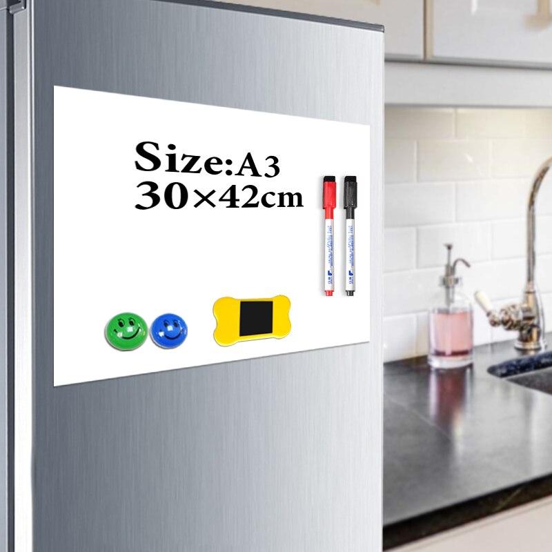 YIBAI placa Magnética crianças A3 29.7*42 cm Flexível Imã de Geladeira Quadro Magnético Desenho Message Board Com O Dom Gratuito