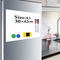 Yibai placa magnética crianças a3 29.7*42cm geladeira flexível quadro branco magnético desenho placa de mensagem com presente gratuito