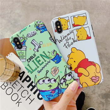 3D Cartoon Aliens Soft IMD Phone case For iPhone X 6 6S 7 8 Plus Cute Winnie Pooh Piglet  Back Cover For iPhone XR XS Max Coque winnie the pooh iphone case