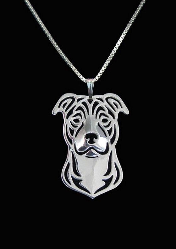 Купить ожерелье с мультяшной собакой персонажа стаффордшира бультерьера
