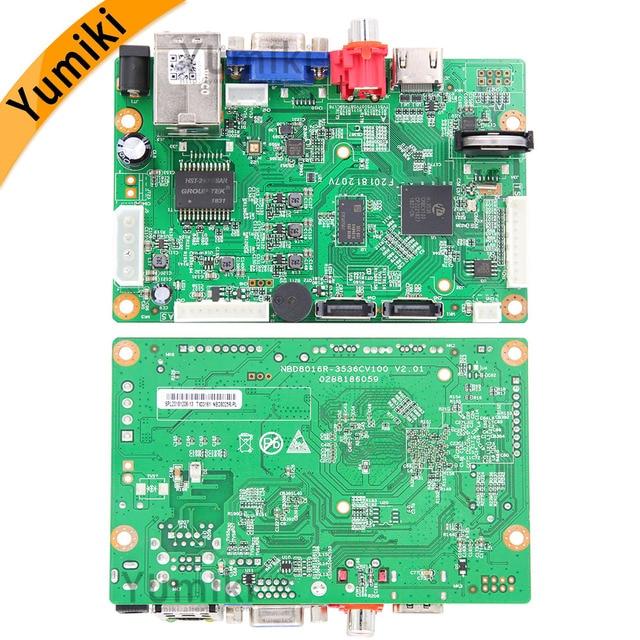 8ch*4K/32ch*5.0MP/32ch*1080P H.265/H.264 NVR Network Vidoe Recorder DVR Board IP Camera with SATA Line ONVIF CMS XMEYE