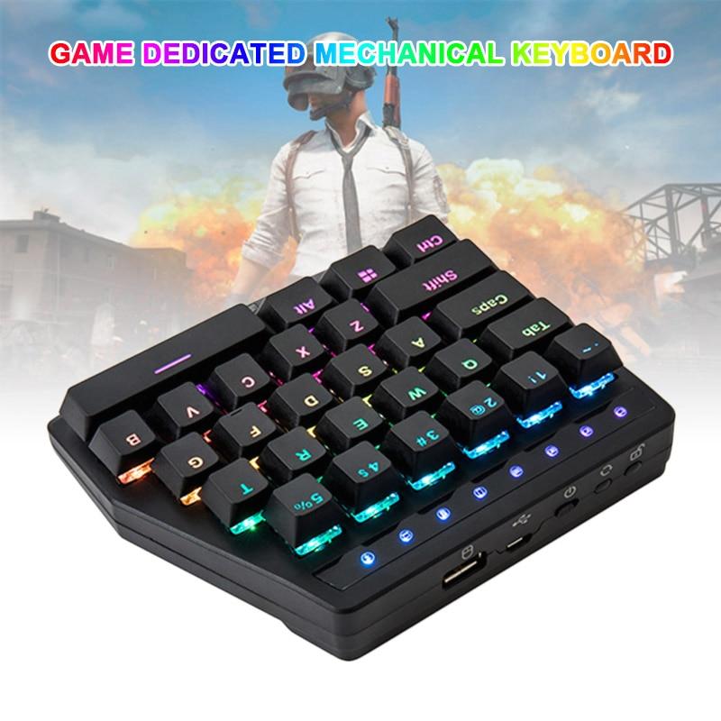 Nouvellement 28 Touches D'une Conception de La Main clavier mécanique Sans Fil pour Esport Gaming PUBG Mobile Jeux
