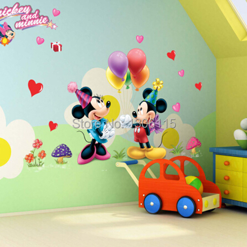 Mickey Mouse Et Minnie Mouse Wall Sticker Enfants Chambre De Bebe