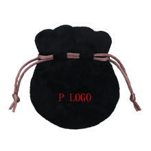 Black Flannel Original Pans Logo Bag Pouch For Pendant Bead Charm Bracelet Women Jewelry Birthday Gift Bags Outer Packaging(China)
