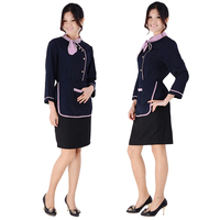 Adult work wear autumn and winter cake shop services waitress uniform set