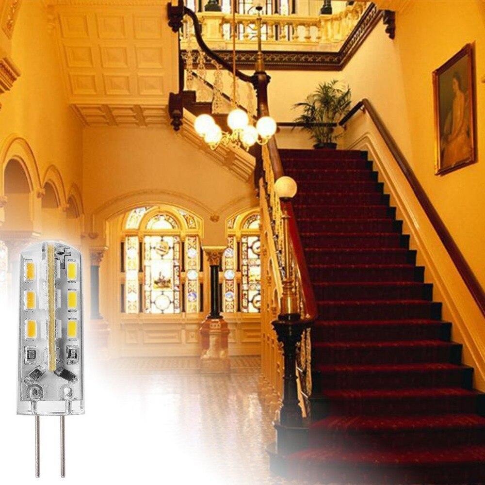 Купить с кэшбэком Beeforo 10 pcs G4 1.5 W 24 SMD 3014 100-120 LM Warm White / Cool White T  Corn Bulbs DC 12 V