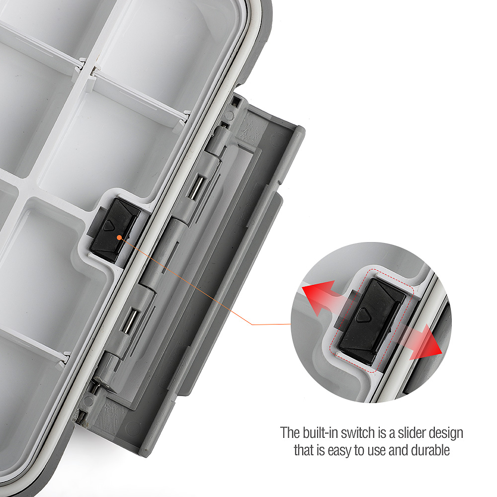 Double Side Waterproof Foam Fly Fishing Bait Lure Hook Storage Case Box TFSU