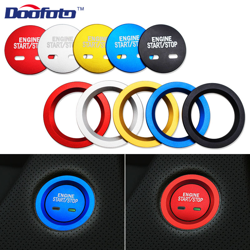 Doofoto Car Start Stop Rings Styling Interior Accessories Case For Chevrolet Equinox For Builk Cadillac XT5 MG6 Decoration Cover