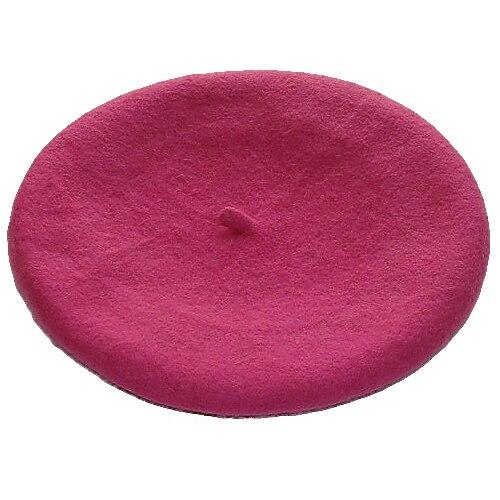 Одноцветный женский берет для девочек, французская художница, теплая шерстяная зимняя шапка, шапка 4XQT