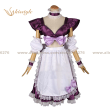 Kisstyle Fashion The Super Dimension Fortress Macross Sheryl Nome Housemaid Dress Clothing Cosplay Costume,Customized Accepted