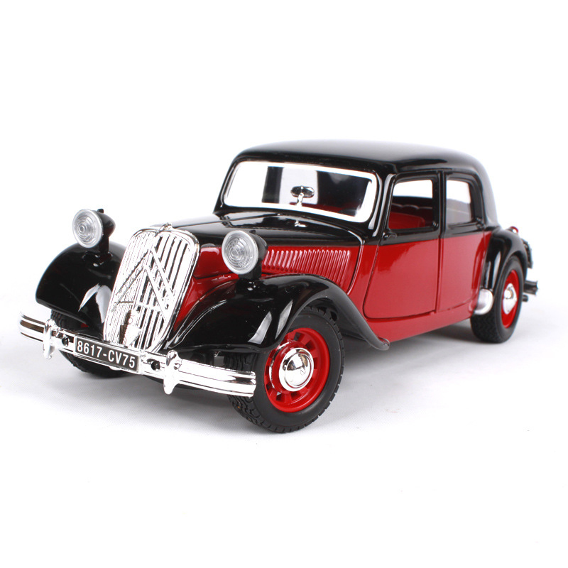 Maisto Bburago 1:24 diecast Car France 1938 15CV TA Classic Cars 1:24 Alloy Car Metal Vehicle Collectible Models toys For Gift