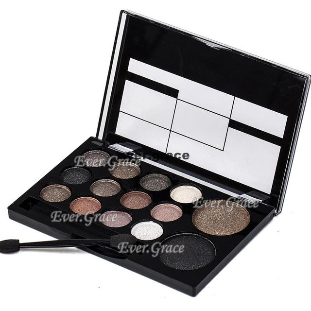 ICYCHEER Neutral Nude 14 Colors Makeup Eye Shadow Shimmer Warm Eyeshadow Palette Pigmented Smoky Silky Kit 5