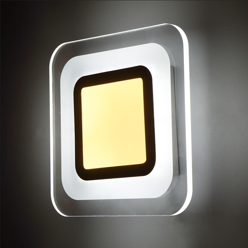 LED Wall Lights 85-265V Living Room Bedroom/corridor Acrylic Ceiling Lamps Indoor Wall Lamp Modern Home Lighting Wall Mounted led wall lights acrylic modern living room bedroom home decoration wall lamp for bedside bedroom restroom wall mounted wall lamp