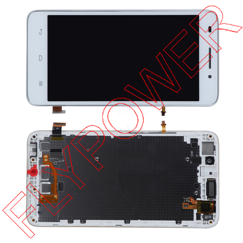 FOR Huawei Ascend G620S LCD display Screen +digitizer touch with Frame assembly by free shipping