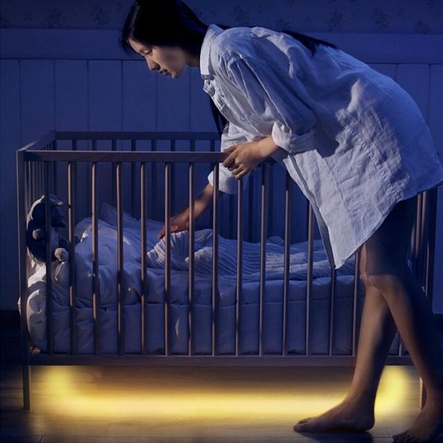 Oświetlenie led pod łóżko z czujnikiem ruchu - aliexpress