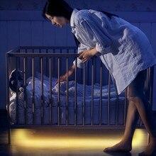 Светодио дный Светодиодная лента для ночного света Smart Turn ON OFF fita de светодио дный led luz waterproof SMD2835 бансветодио дный до led спальня pir датчик движения светодиодные полосы света