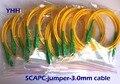 10 unids SC/APC-SC/APC-3.0mm-PVC-G652D-Yellow-1.5m Fibra Óptica Patchcord/Puente