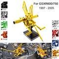 CNC Алюминиевые Регулируемые задние ножки для Suzuki GSXR 600 750 GSXR600 GSXR750 1997 1998 1999 2000 2001 2002 2003 2004 2005