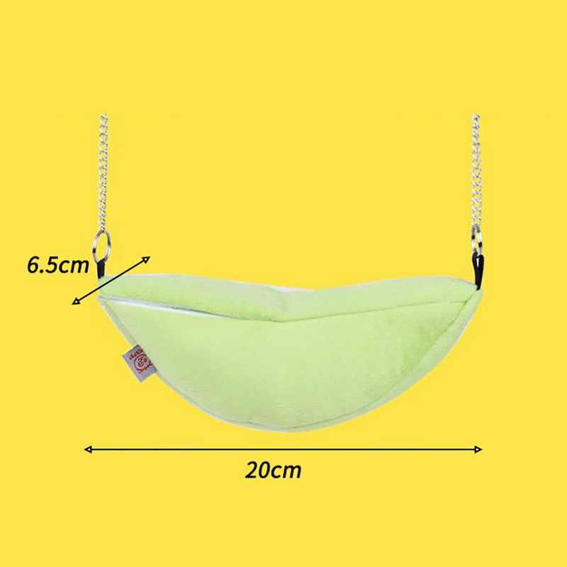 Подвесная кровать для хомяка для хорька зайца животные кровать для маленьких домашних животных хлопковое гнездо для сна дом новая мышь для мыши и хомяка модели банана