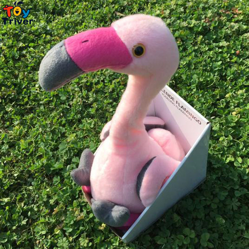 40cm Plush Simulation Flamingo Toy Singing Twisting Neck Flamingos Electronic Toys Interactive Funny Music Doll Gift Triver funny falling tumbling monkey parenting family interactive toy
