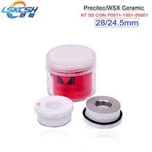 LSKCSH 10pcs Free shipping 10pcs/lot WSX WTC-01 P0571-1051-00001 Precitec ceramic laser nozzle holder KT B2ins CON ceramic part