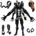 "New Arrival Marvel 8""20cm Marvel Spider Man spiderman Changable Heads Venom PVC Action Figure Toys Model Doll With Box"