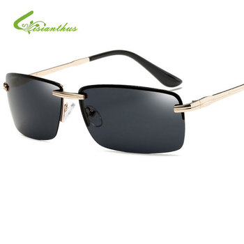 52fb27091c 2019 moda marca diseñador HD polarizado gafas De Sol hombres Polaroid lente  UV400 conducción De Metal Marco De gafas De Sol, gafas De Sol