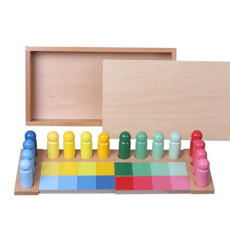 BBK bébé jouet Montessori couleur correspondant couleur ressemblance tri petite enfance préscolaire enfants jouet éducatif-in En bois Blocs from Jeux et loisirs    2