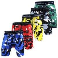 Newest Fitness Running Sport Shorts Men Gym Tights Compression Shorts Bermuda Surf Basketball Training Camouflage Short