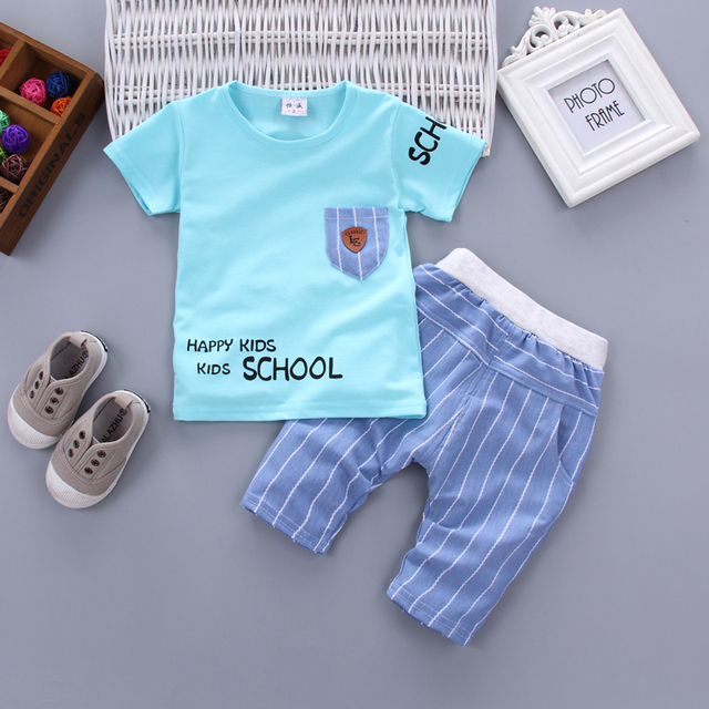 Newborn baby boy happy kid clothes sets for kids 1