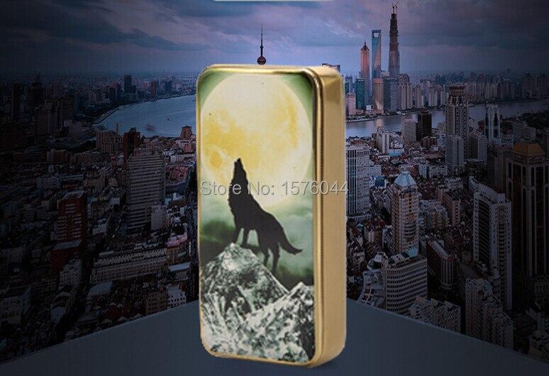 E4084 Environmental protection creative windproof lighter wolf smoking USB charging font b electronic b font font