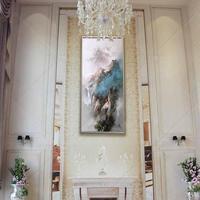 Без рамы расписанную blue mountain темно облако абстрактные современные стены Книги по искусству изображение Домашний Декор картина маслом на хо