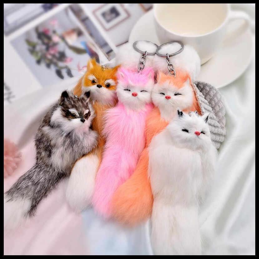 2019 NOVA Moda Criativa Chaveiro Fox Meninas Ornamentos Saco Cadeia Chave Do Carro de Presente de Aniversário Presente Requintado Favores Do Partido