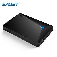 EAGET USB 3,0 внешний жесткий диск 500 ГБ HDD 2,5 хранения жесткий диск 2 ТБ 1 ТБ высоком Скорость противоударный Desktop HDD портативных ПК Mobile