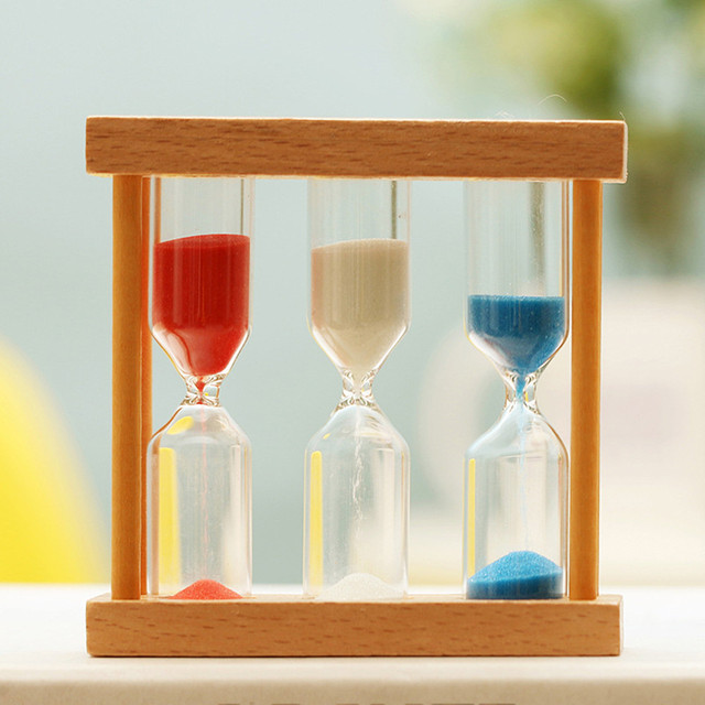 1/3/5 Minutes Count Wooden Sand Hourglass Timer Clock Home Decor Gift
