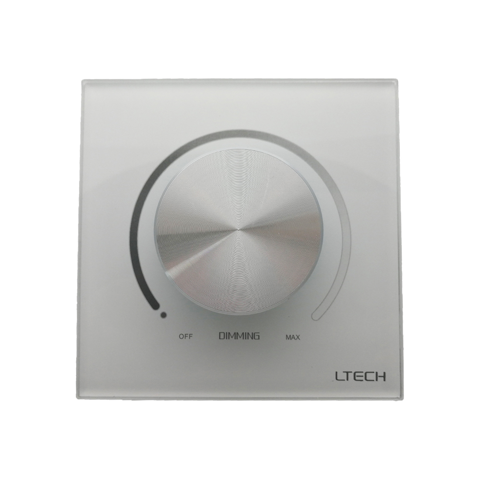 Ltech LED Triac Dimmer 220V E6-TD1 Knob Panel Dimming Controller Triac Edge High Voltage Incandescent Halogen Lamp Led Dimmer