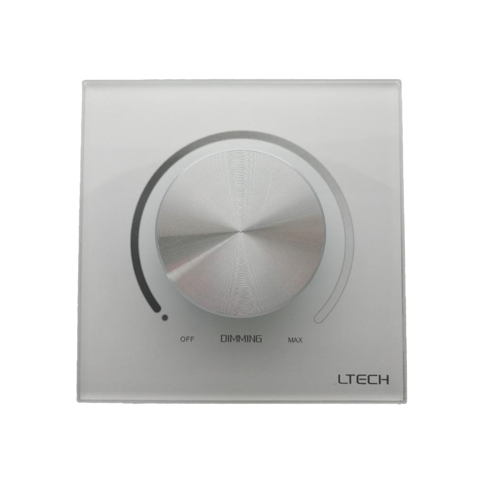 Ltech LED Triac Dimmer 220V E6-TD1 Knob Panel Dimming Controller Triac Edge High Voltage Lamp Led Dimmer