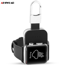 Cargador inalámbrico QI para Apple Watch 1, 2, 3, 4, 5, 6, cargador de batería portátil para exteriores, 950mah