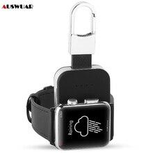Zewnętrzny zestaw akumulatorów bezprzewodowa ładowarka qi do Apple Watch iWatch 1 2 3 4 5 bezprzewodowa ładowarka Power Bank 950mah Portable Outdoor