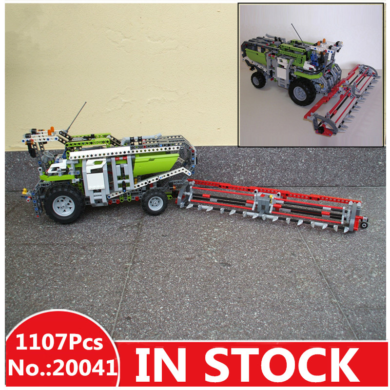 IN STOCK H&HXY 20041 1107Pcs Genuine Technic Series The Combine Harvester Set 8274 Building Blocks Bricks Toys Lepin Model цена