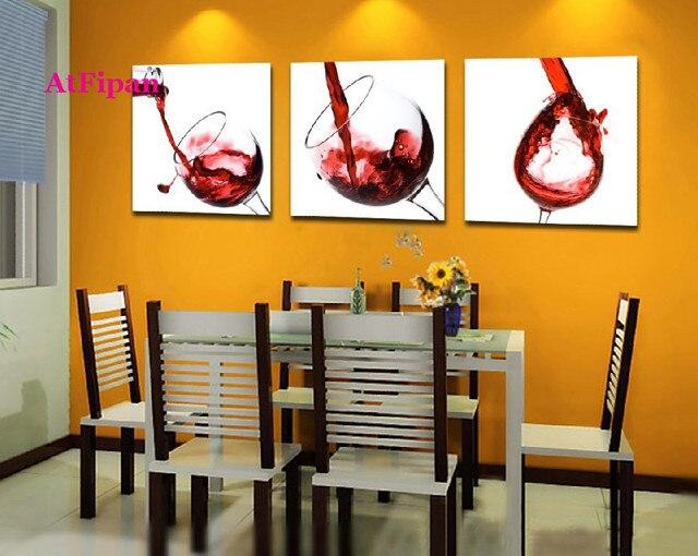 AtFipan Ungerahmt Wall Bilder Für Wohnzimmer Moderne Leinwand Malerei Wein  Glas Modulare Bilder Top