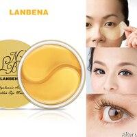 LANBENA Ouro Máscara de Olho Ácido Hialurônico Elimina Olheiras Linhas Finas Anti Envelhecimento Anti Rugas Rosto Cuidados Cuidados Com A Pele 60 pcs