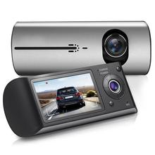 купить Car DVR with GPS G-Sensor CamcorderCar DVR Dual Lens R300 Dash Cam 2.7 GPS Camera 140 Degree Video Recorder дешево