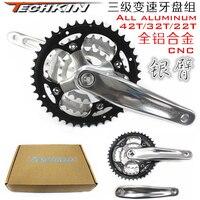 11123TECHKIN three speed transmission 42T, 32T, 22T gear disk mountain bike aluminum alloy wheel 18/21/24 speed gear