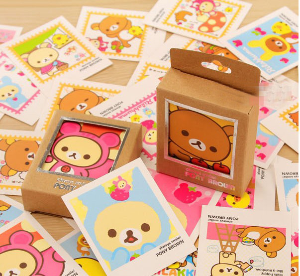 40 pcs/set New Colorful Rilakkuma Single-Page Type Greeting Cards Kawaii Stamp Postcard Set Gift Card H0039 3d navidad merry christmas postcard tree greeting cards postcards birthday gift message card xmas thanksgiving card