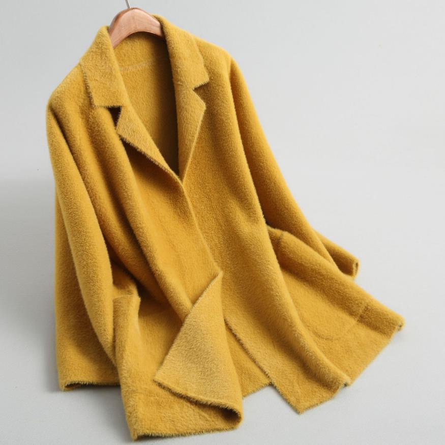2019 automne et d'hiver nouvelle mode doux mignon costume veste d'eau veste à manches longues chaud femmes blazer lâche
