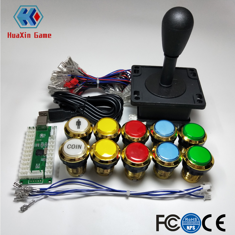 Ingenious Arcade Diy Kits Parts Usb Encoder To Pc Happ Style Joystick Gilded Led Lamp Lights Push Buttons For Mame Kof Raspberry Pi 2 3 Special Buy Entertainment Sports & Entertainment