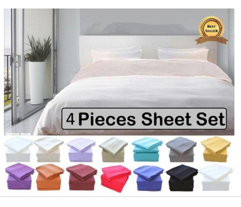 Luxury Soft Brushed Microfiber Bed Sheet Set Deep Pocket - Queen - Gray