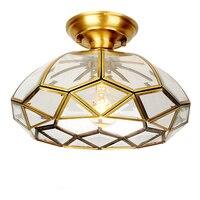 European style Copper ceiling Lamp light E27 LED lamp Toolery Dining Room Bedroom Ceiling light Restaurant home Commercial Light