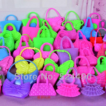 10 PCS Mix Styles Colorized Fashion Morden Doll Bags Accessories Toy For Barbie Kurhn Doll Birthday
